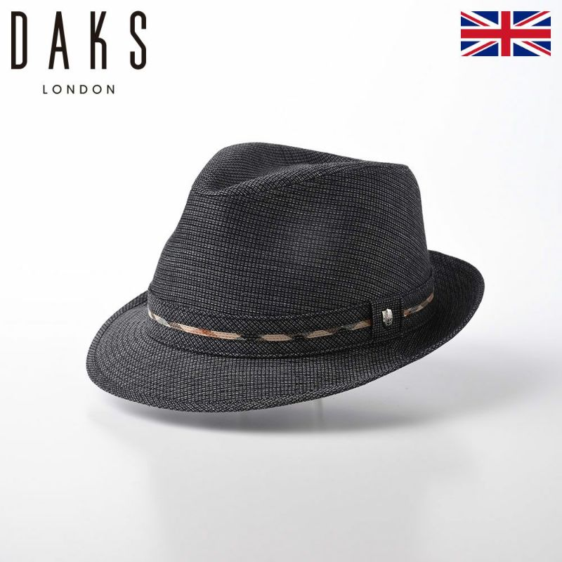 帽子 布帛ソフトハット DAKS(ダックス) Saint Paul Dobby Mesh(セント ポール ドビー メッシュ) D1667 ブラック