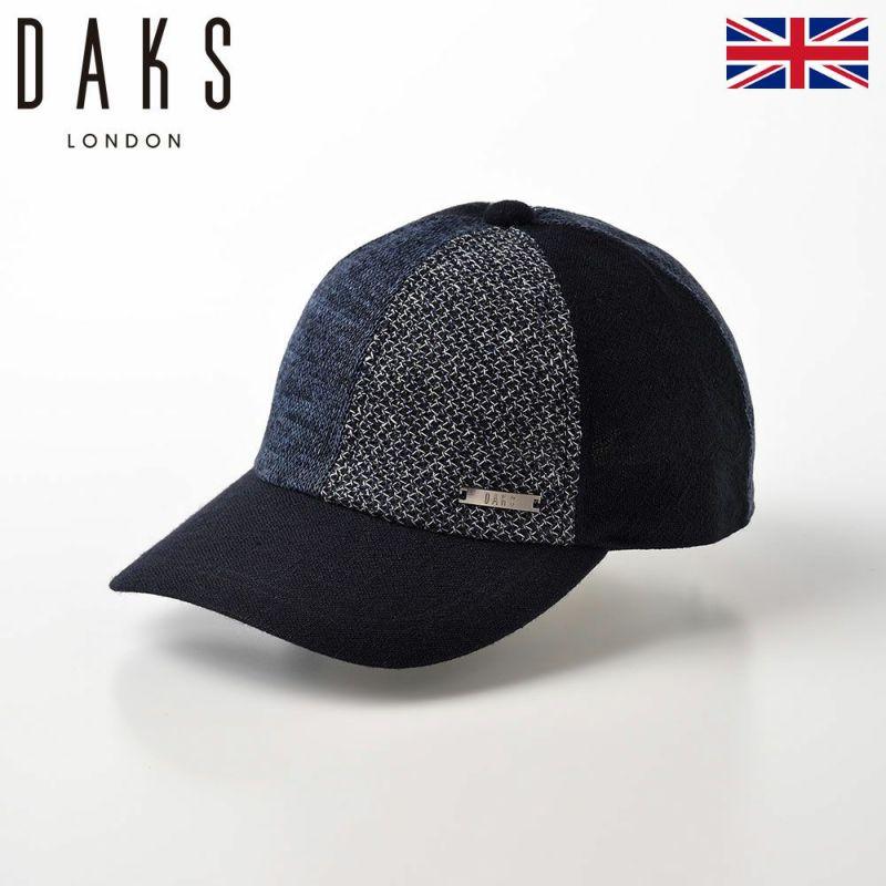 帽子 ベースボールキャップ DAKS(ダックス) Cap Patchwork(キャップ パッチワーク) D1675 ネイビー