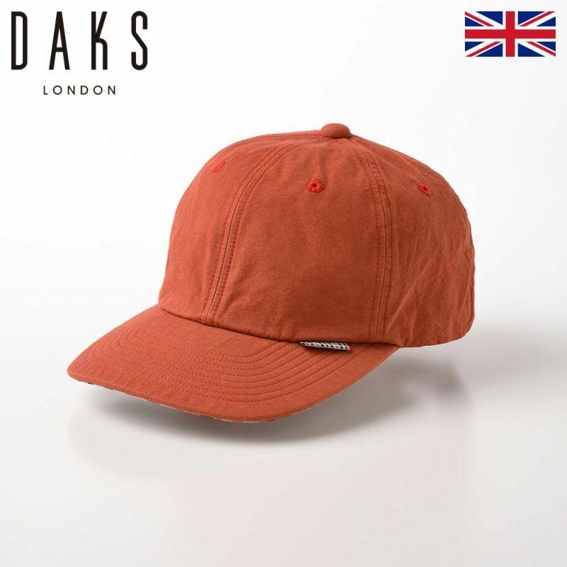 帽子 ベースボールキャップ DAKS(ダックス) Cap Cotton Washer(キャップ コットンワッシャー) D1695 オレンジ