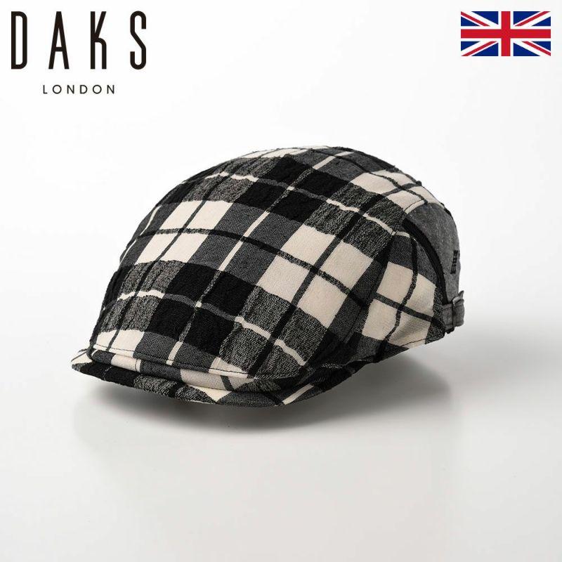 帽子 ハンチング DAKS(ダックス) SideFree Hunting Check(サイドフリーハンチング チェック) D1697 ブラック