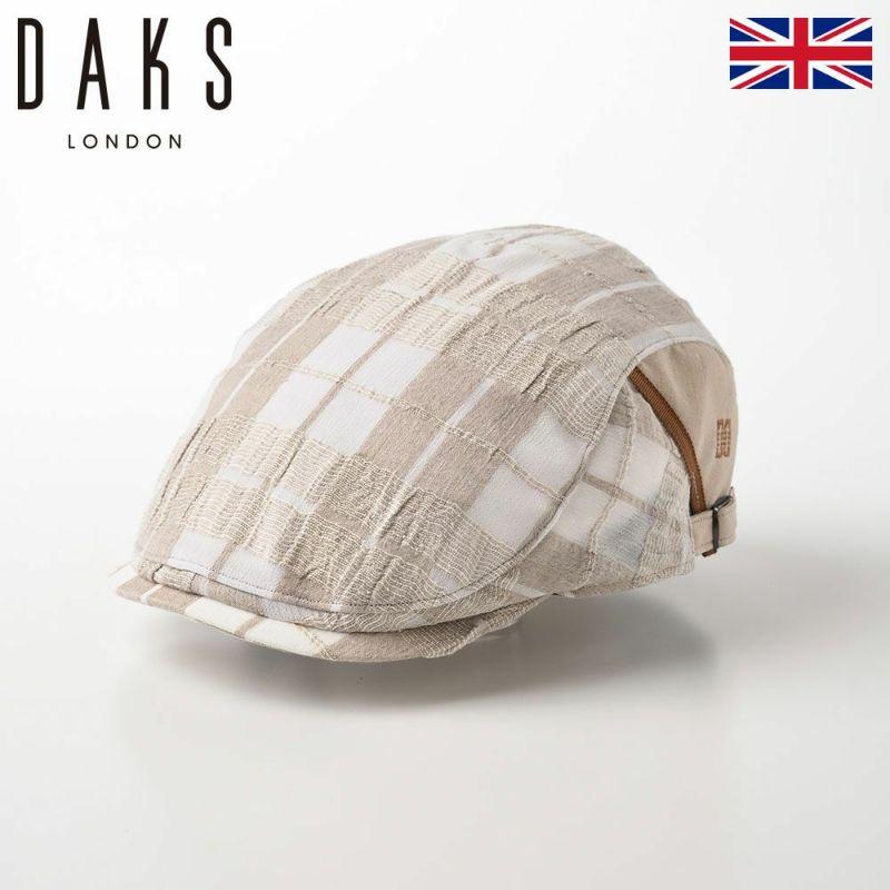 帽子 ハンチング DAKS(ダックス) SideFree Hunting Check(サイドフリーハンチング チェック) D1697 ベージュ