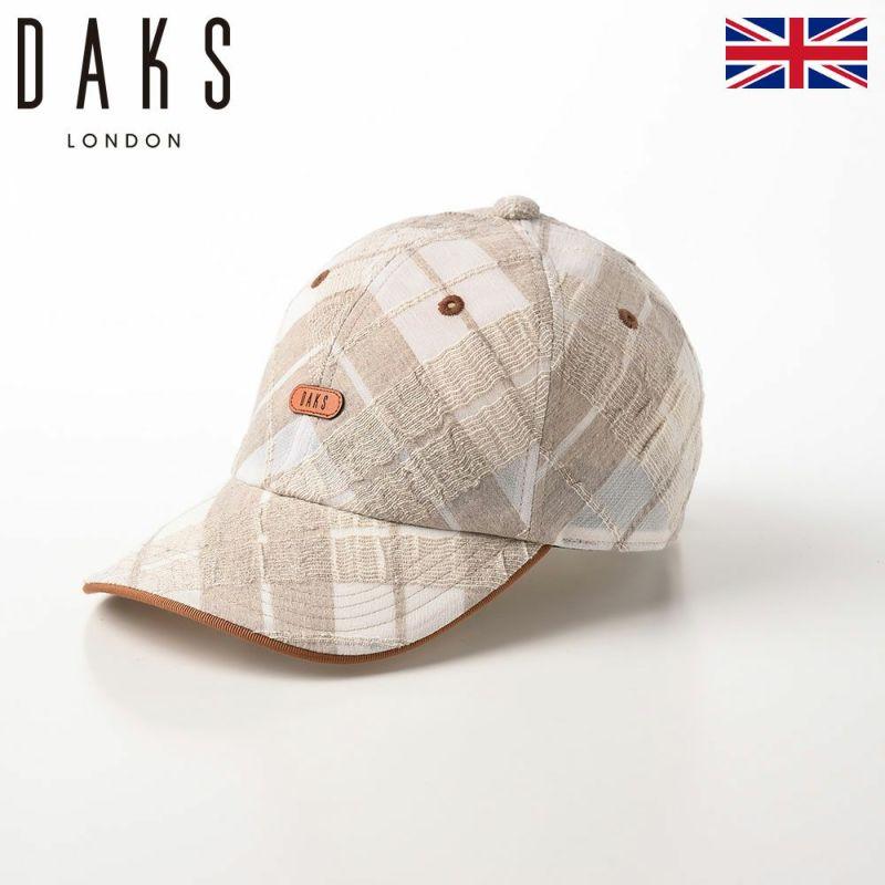 帽子 ベースボールキャップ DAKS(ダックス) Cap Check(キャップ チェック) D1698 ベージュ
