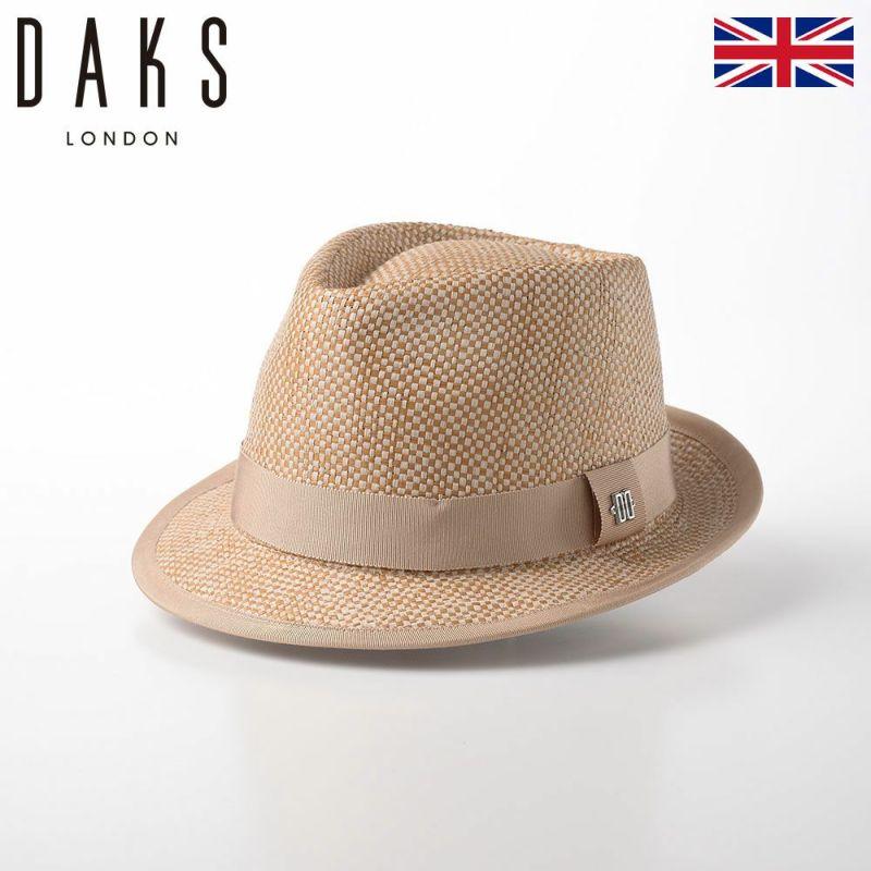 帽子 布帛ソフトハット DAKS(ダックス) Trilby Paper Yarn(トリルビー ペーパーヤーン) D1699 ベージュ