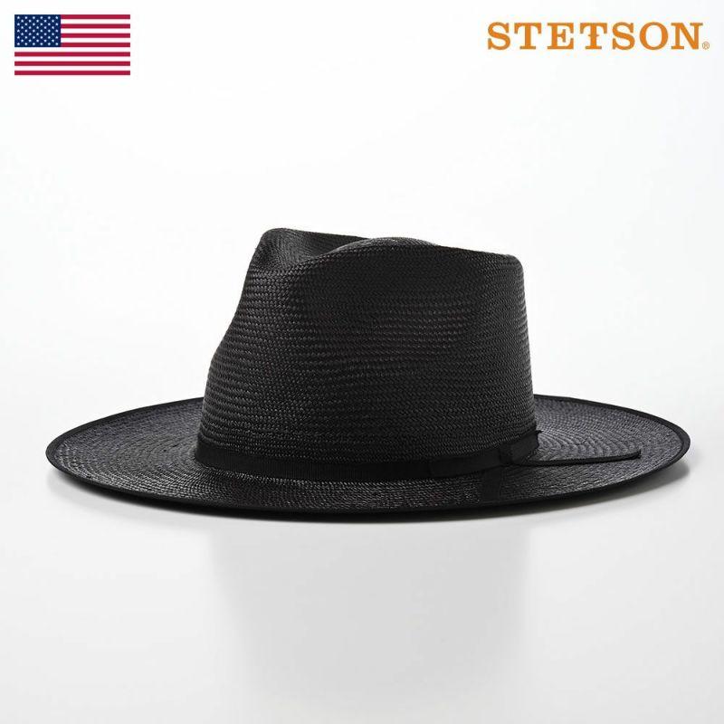 帽子 パナマハット STETSON(ステットソン) MANISH PANAMA(マニッシュ パナマ)SE583 ブラック