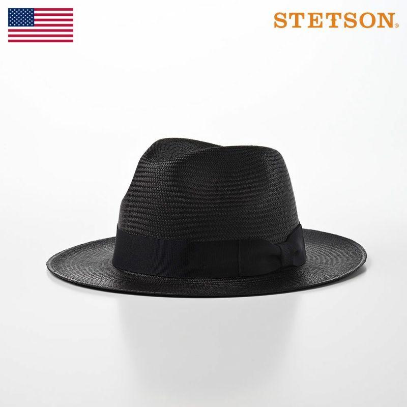 帽子 パナマハット STETSON(ステットソン) MANISH PANAMA(マニッシュ パナマ)SE601 ブラック