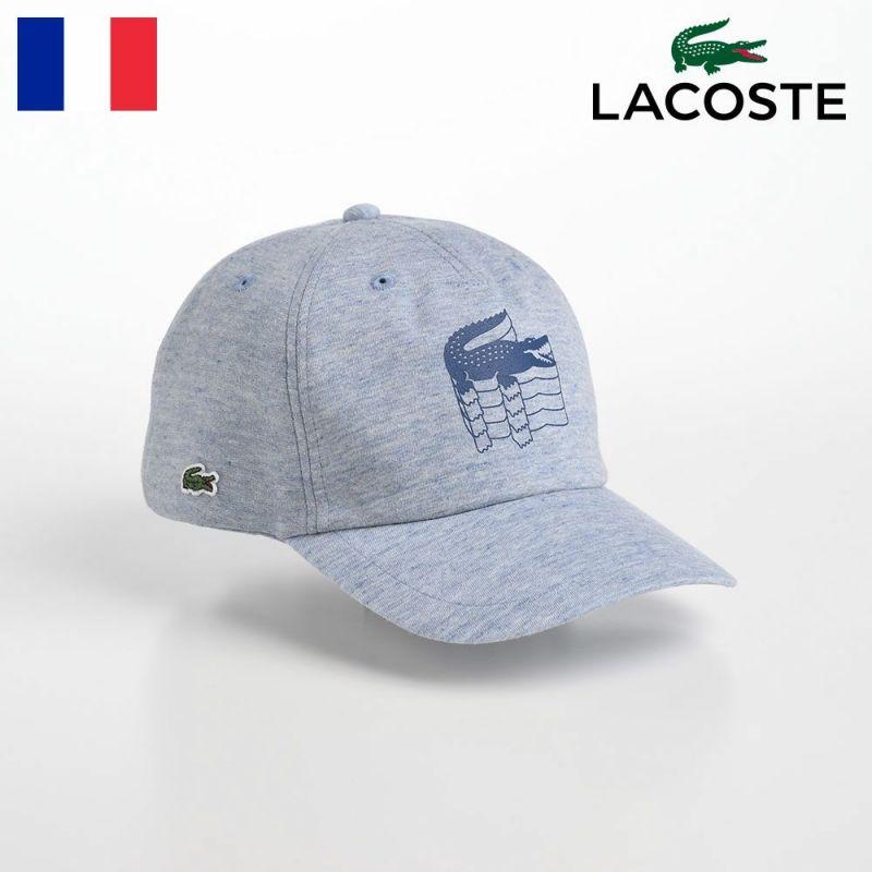 帽子 ベースボールキャップ LACOSTE(ラコステ) COTTON 6PANEL CAP(コットン 6パネルキャップ) L1106 ブルー