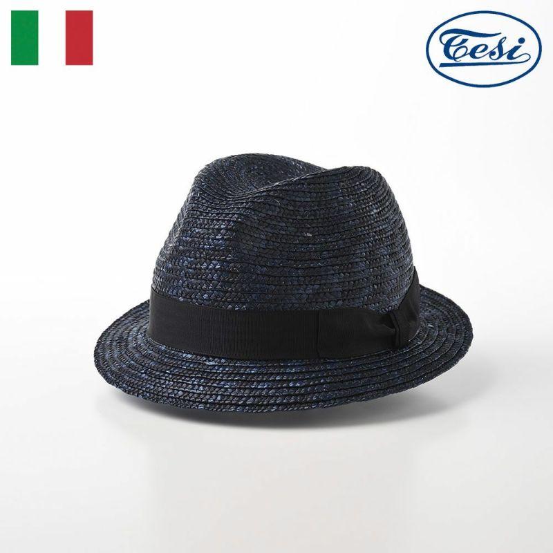 帽子 ストローハット TESI(テシ) Straw Hat(ストローハット) T0732 ネイビー