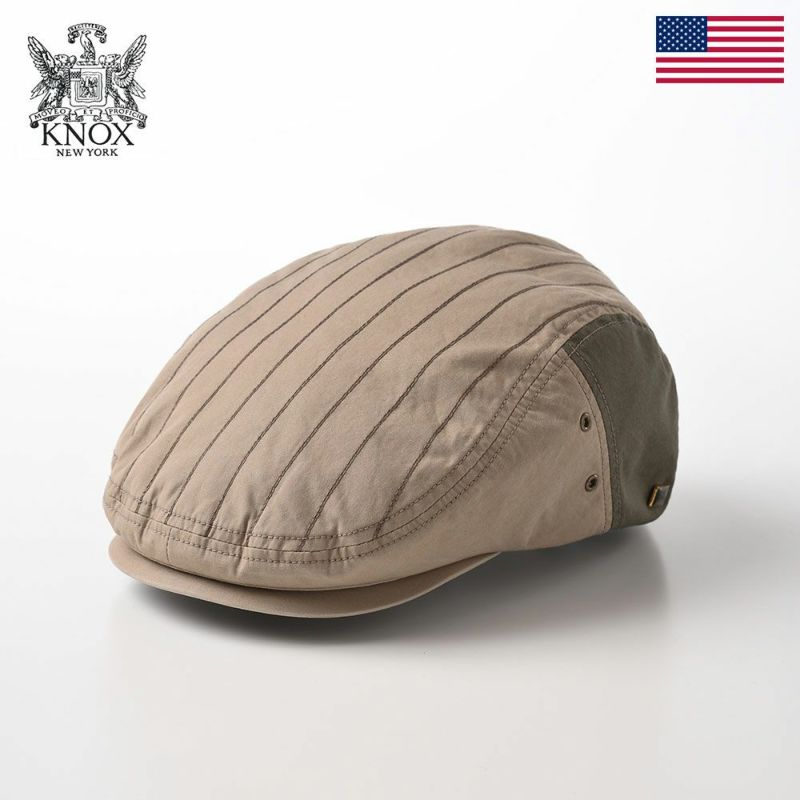 帽子 ハンチング KNOX(ノックス) Cotton Hunting(コットンハンチング)KX3J002 ベージュ