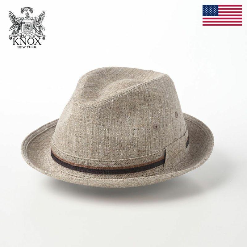 帽子 布帛ソフトハット KNOX(ノックス) Linen Hat(リネンハット)KX3J011 ベージュ