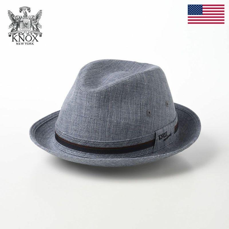 帽子 布帛ソフトハット KNOX(ノックス) Linen Hat(リネンハット)KX3J011 ネイビー
