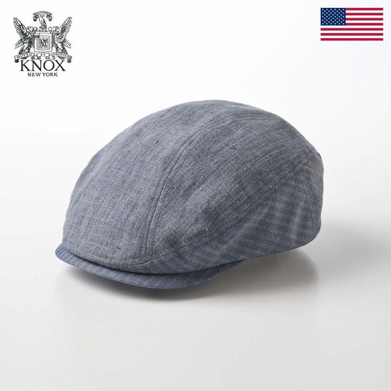 帽子 ハンチング KNOX(ノックス) Linen Hunting(リネンハンチング)KX3J012 ネイビー