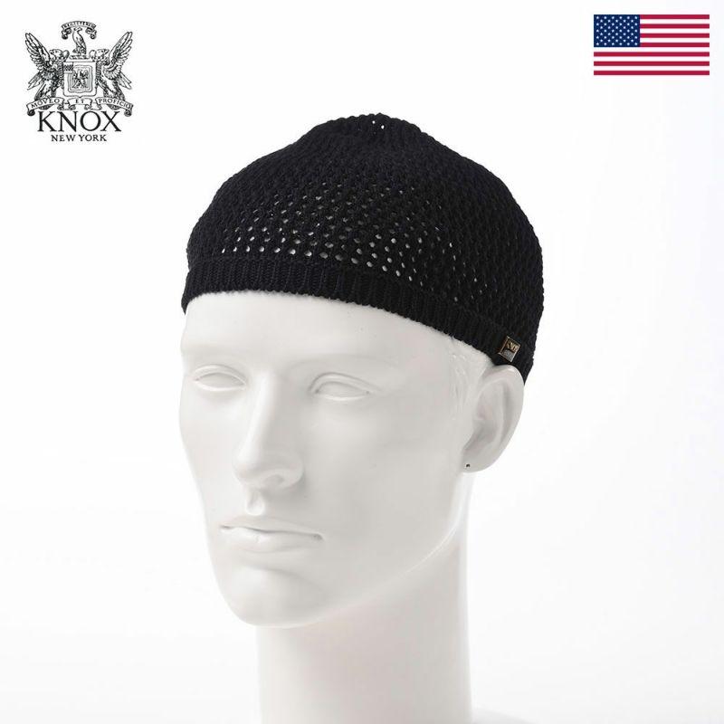帽子 ニット帽 KNOX(ノックス) Cotton Knit Watch(コットンニットワッチ)KX3J018 ブラック