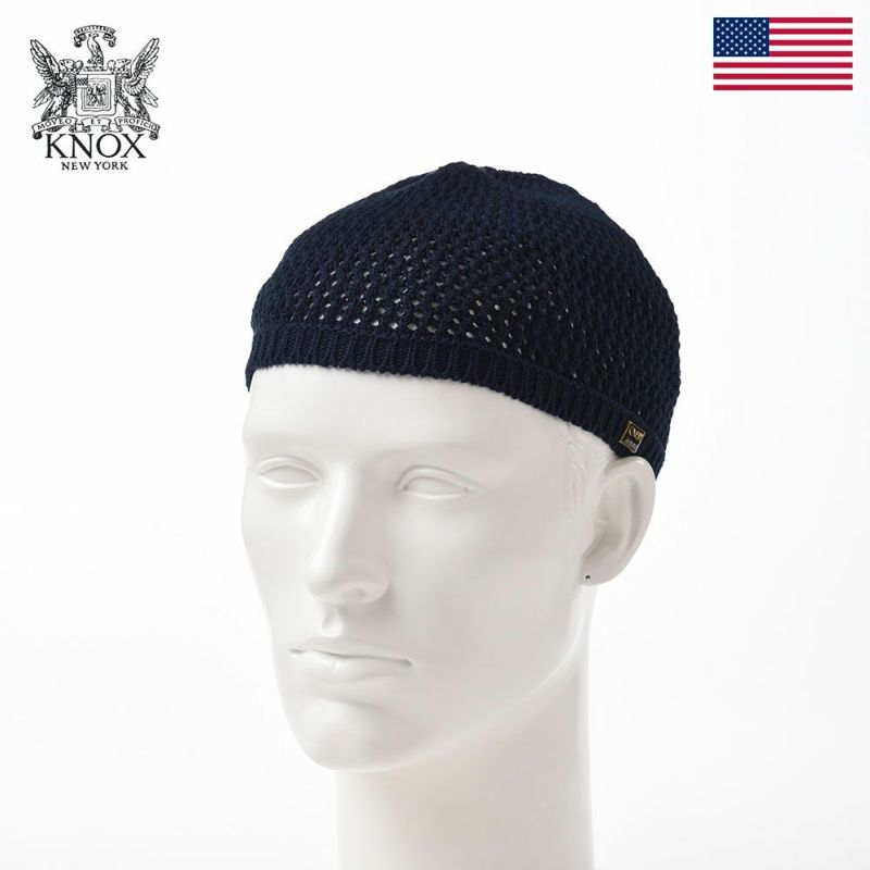帽子 ニット帽 KNOX(ノックス) Cotton Knit Watch(コットンニットワッチ)KX3J018 ネイビー