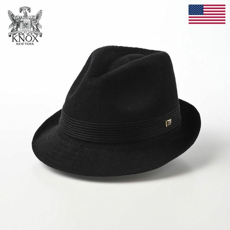 帽子 布帛ソフトハット KNOX(ノックス) Linen Mix Thermo Hat(リネンミックス サーモハット)KX3K008 ブラック