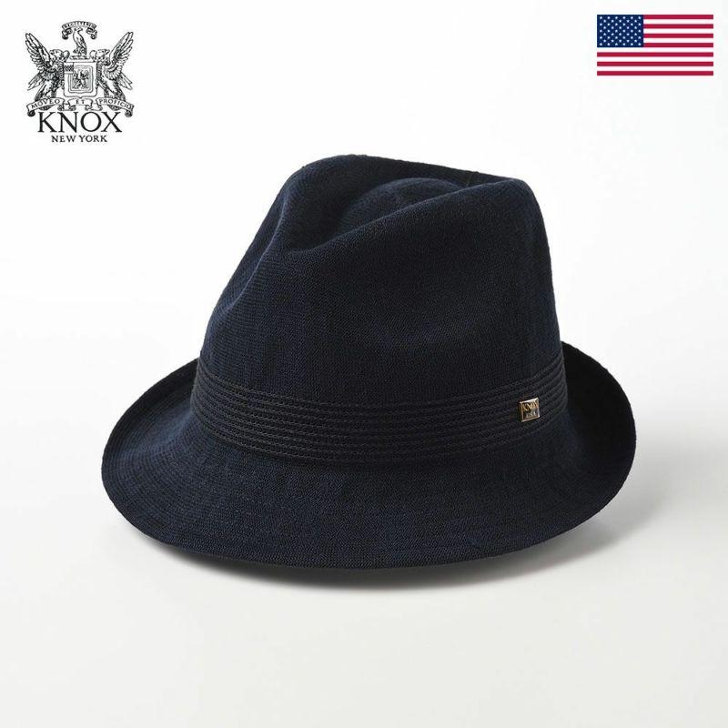 帽子 布帛ソフトハット KNOX(ノックス) Linen Mix Thermo Hat(リネンミックス サーモハット)KX3K008 ネイビー