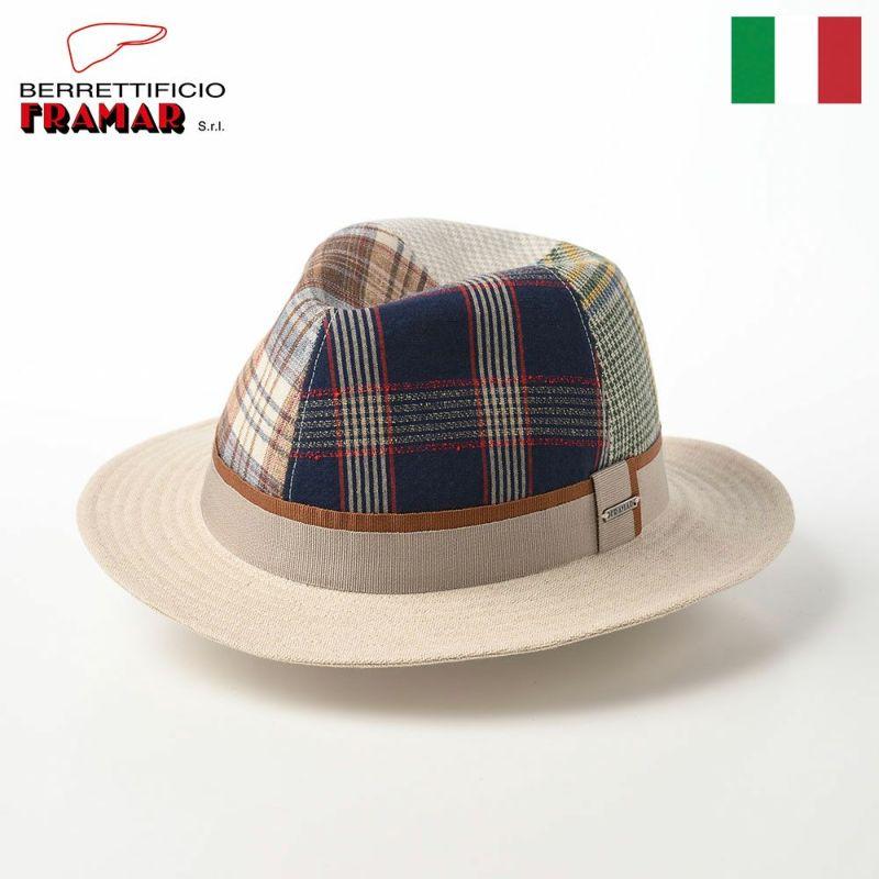 帽子 布帛ソフトハット FRAMAR(フラマー) Linen Multi Color Hat(リネン マルチカラーハット) FR057