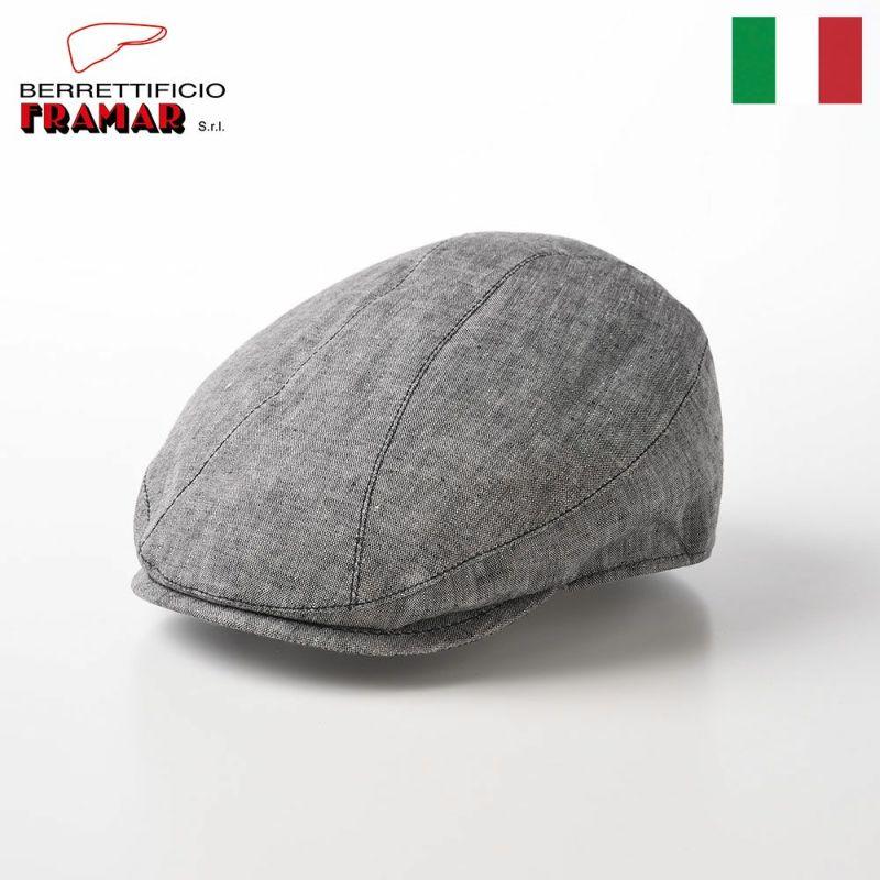 帽子 ハンチング FRAMAR(フラマー) Linen Hunting(リネンハンチング) FR065 グレー