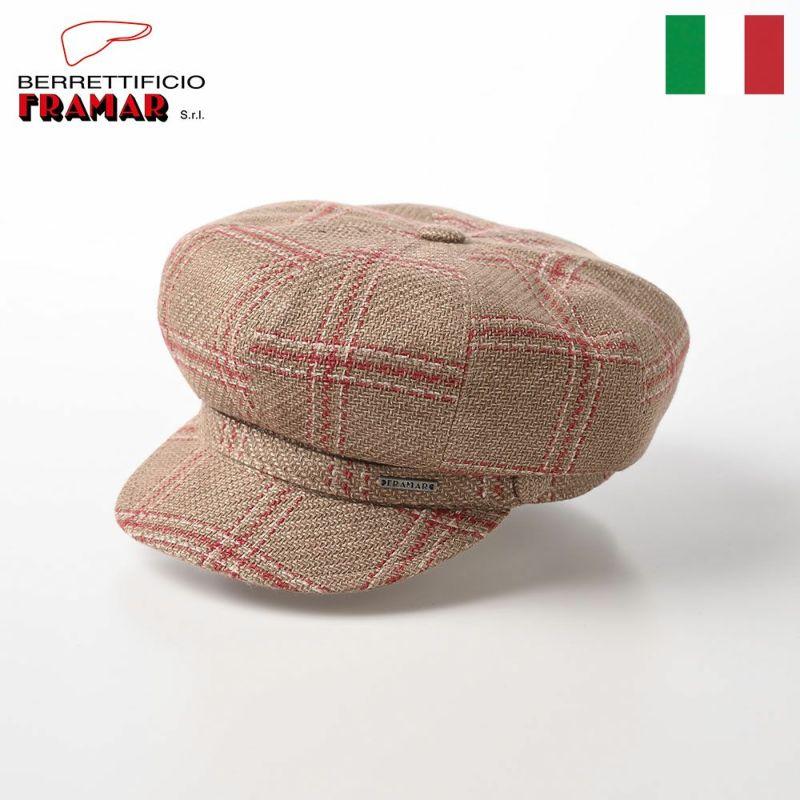 帽子 マリンキャップ FRAMAR(フラマー) Linen Marin Cap(リネンマリンキャップ) FR2008 ベージュ