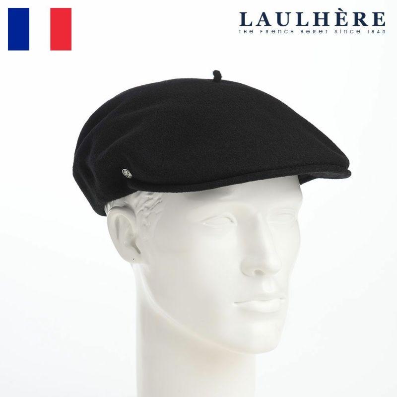 帽子 ベレー帽 LAULHERE(ロレール) LAINE WL 1898(レーヌ ウール)ブラック