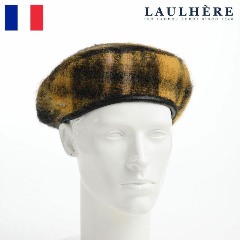 帽子 ベレー帽 LAULHERE(ロレール) JAMES TARTAN WL(ジェームス タータン ウール)イエロー