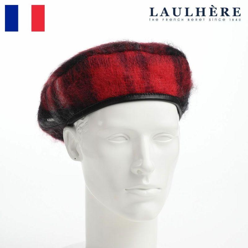 帽子 ベレー帽 LAULHERE(ロレール) JAMES TARTAN WL(ジェームス タータン ウール)レッド