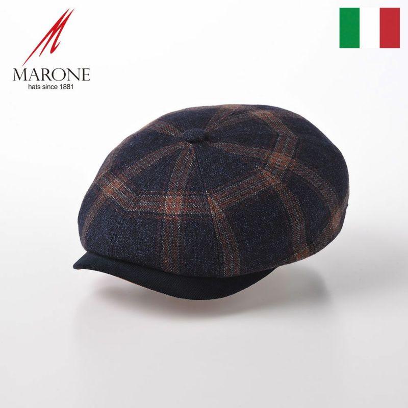 帽子 キャスケット MARONE(マローネ) Dublino Zucca(ダブリーノ ズッカ)BT942 チェック