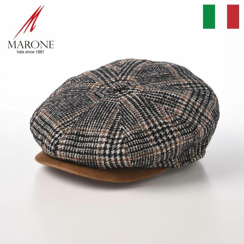帽子 キャスケット MARONE(マローネ) Bristol Glen(ブリストル グレン)BT990 チェック
