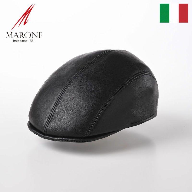 帽子 ハンチング MARONE(マローネ) Varie Colori Lambskin(ヴァリエ コローリ ラムスキン)BN131 ブラック