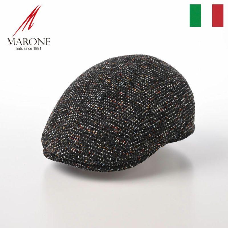 帽子 ハンチング MARONE(マローネ) Four Panel Berretto Rialt(フォーパネルベレット リアルト)BT933 ブラック