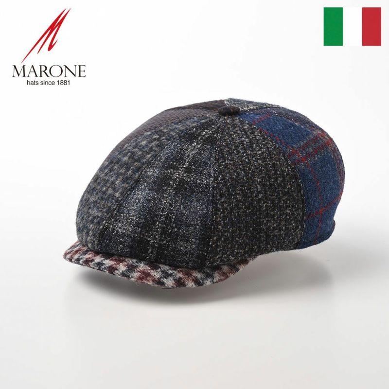 帽子 ハンチング MARONE(マローネ) Galles Patchwork(ウェールズ パッチワーク)BT945 マルチ