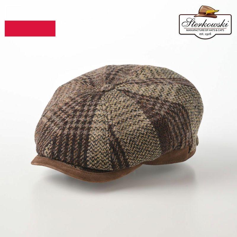 帽子 キャスケット Sterkowski(ステルコフスキー) PULLUS(プルルス) ブラウン