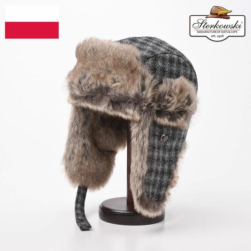 帽子 飛行帽 Sterkowski(ステルコフスキー) LUMBERJACK(ランバージャック) グレー