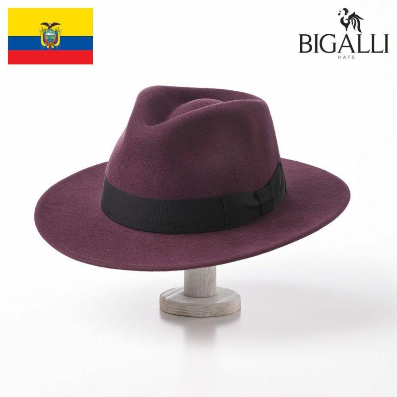 帽子 フェルトハット BIGALLI(ビガリ) ARTHUR(アーサー)ラズベリー