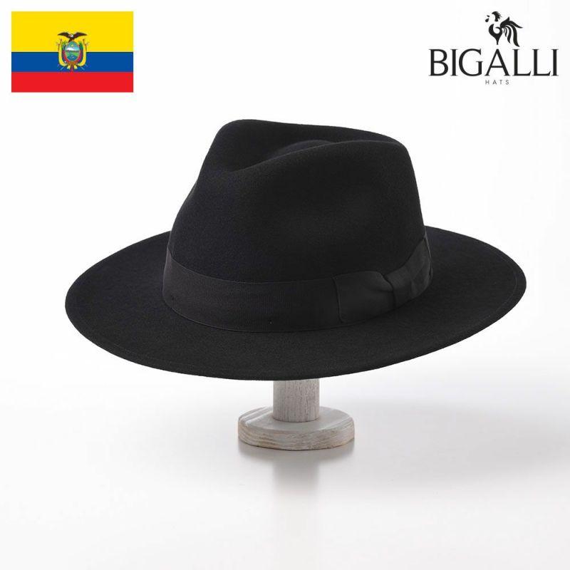 帽子 フェルトハット BIGALLI(ビガリ) ARTHUR(アーサー)ブラック