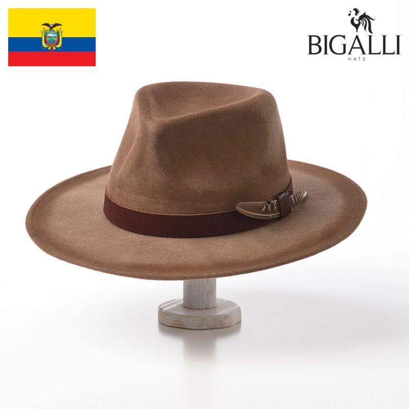 帽子 フェルトハット BIGALLI(ビガリ) ZINGARO(ジンガロ)カーキ