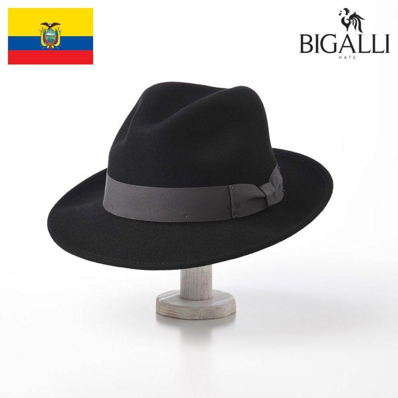 帽子 フェルトハット BIGALLI(ビガリ) DEAN(ディーン)ブラック