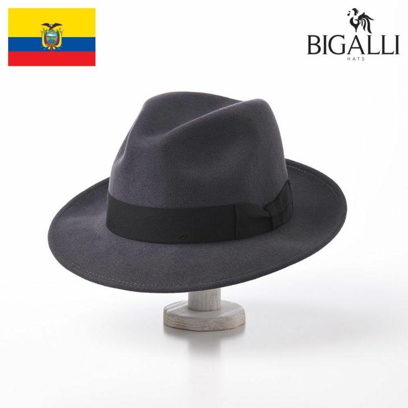 帽子 フェルトハット BIGALLI(ビガリ) DEAN(ディーン)ダークグレー