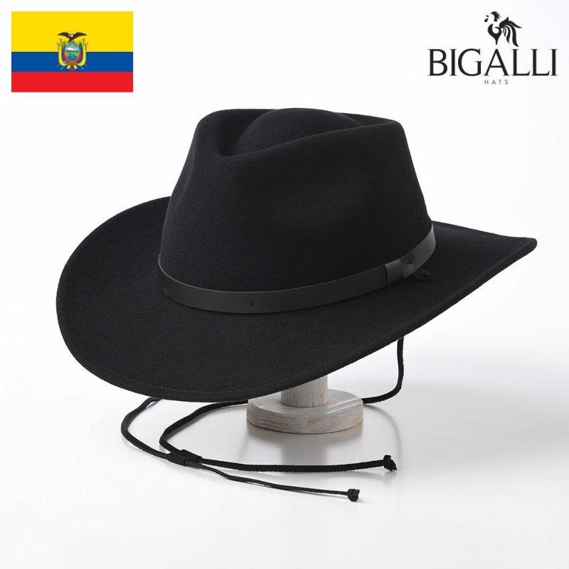 帽子 ウエスタンハット~テンガロンハット~サファリハット BIGALLI(ビガリ) TRIBU(トリブ)ブラック