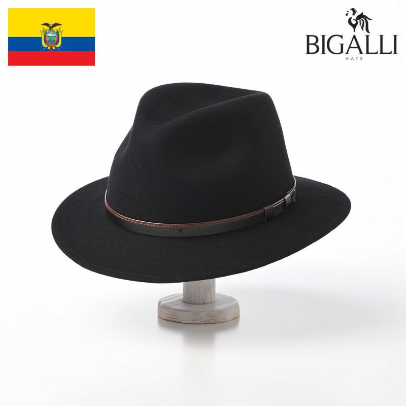 帽子 フェルトハット BIGALLI(ビガリ) SEATTLE(シアトル)ブラック