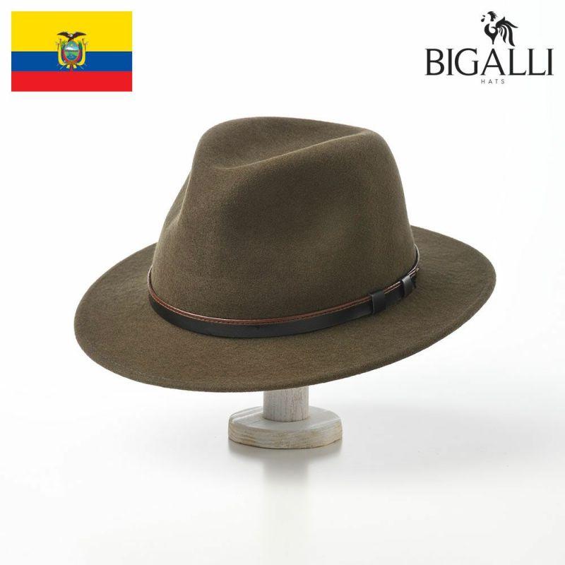 帽子 フェルトハット BIGALLI(ビガリ) SEATTLE(シアトル)モス